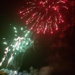 Image of firework display petering out