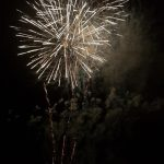 Image of busting colour firework display
