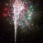 firework display from a back garden