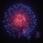 Fireworks Display November 2018 taken by Russell Gow blue with red centre