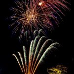 fireworks going off rockets