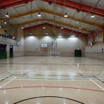 width of the sports hall