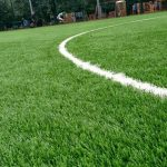 Photo close up of the all weather pitch