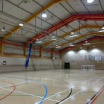 Photo of the sports hall with new light
