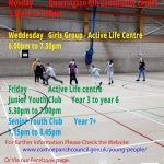 A photograph of a poster advertising the Coxhoe Youth Clubs