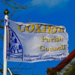 Parish council flag flying