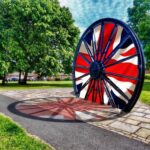 The Village Pit Wheel with Union Flag stitched into spokes