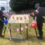 Tommies with bunting and flags in Quarrington Hill
