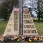 Quarrington Hill Structure with flags