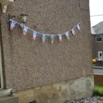 Some bunting on gable