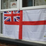 A flag in the Club window