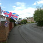 Union Flags in streetscene