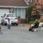 Group of Socially distanced neighbours