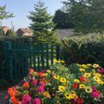 flowers outside Quarrington Hill Community Centre