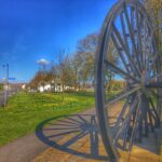 photo of Coxhoe pit wheel in the sunshine